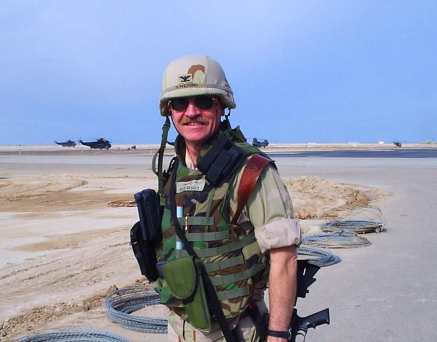 Military author Paul Sherbo in Iraq